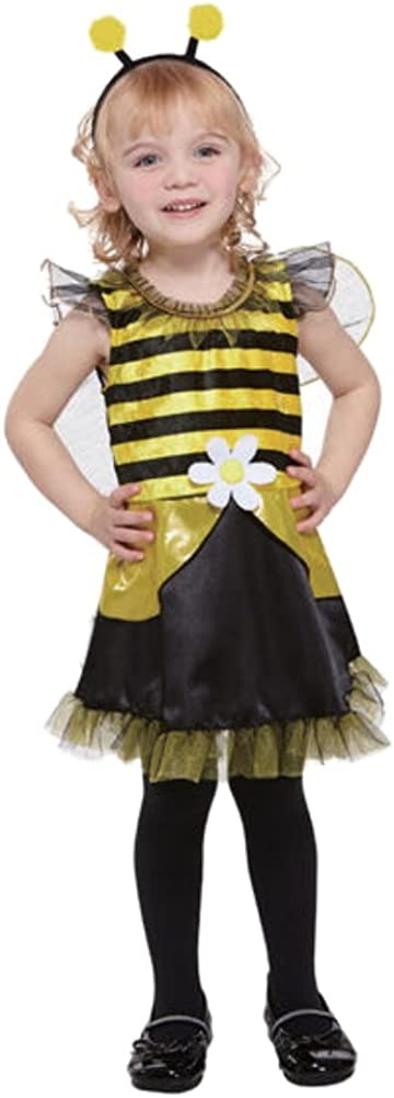 Totally Ghoul Toddler Girl Lil Bumblebee Fairy Costume Dress Headpiece