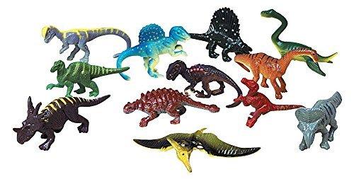 Dozen Small Toy Dinosaurs: 2.5 inch Plastic Toy Dino Figures (Toy Plastic Dinosaur)