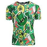 DAYPLAY St. Patrick's Day Unisex Printing Letters Tees Shirt Short Sleeve Shirt Blouse 2019 Sale Summer Green