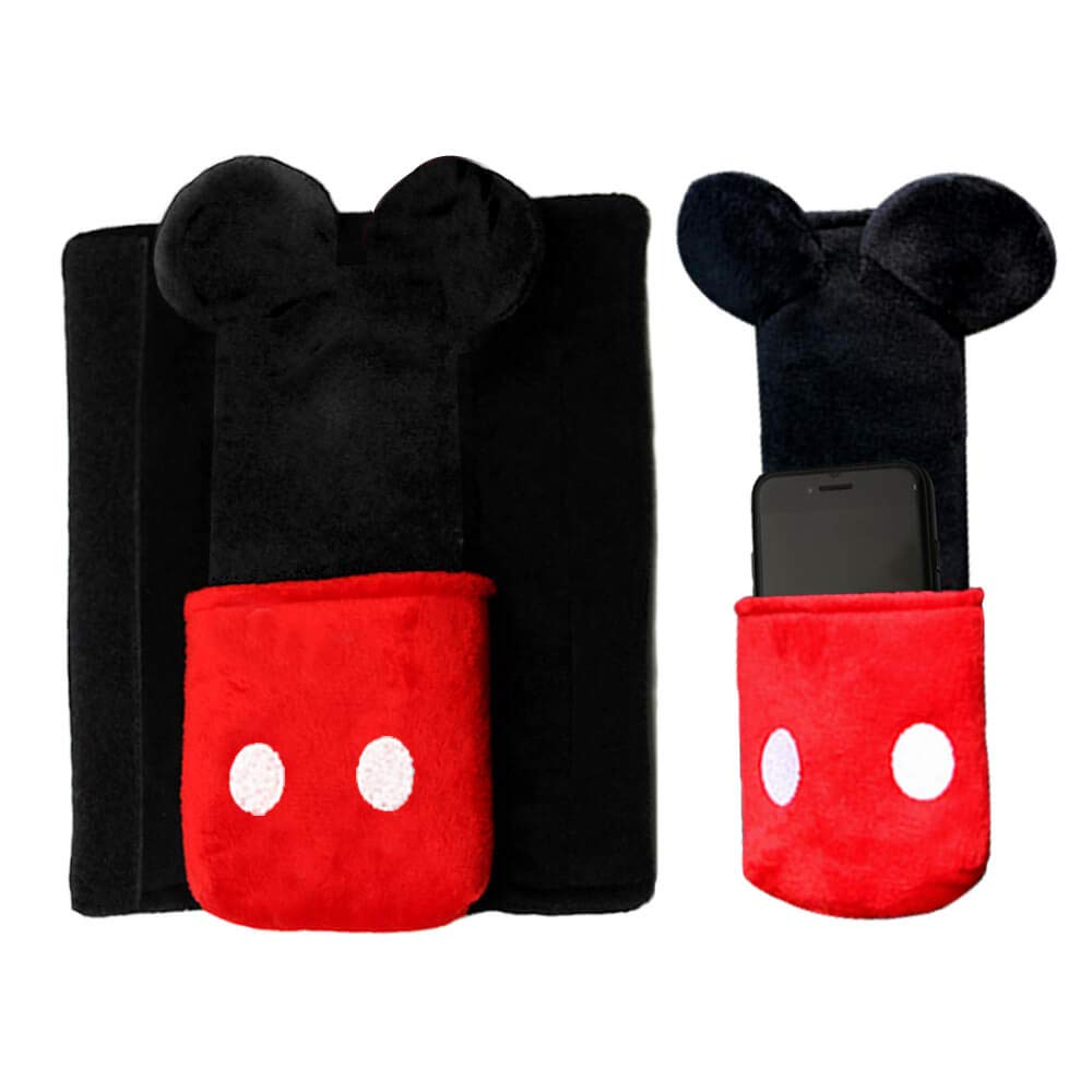 Car Creative Decoration Cute Disney Mickey Mouse Cartoon Doll Car Seat Belt Cover Mat Buffer Anti-Friction Shoulderpad by Disneydecoration