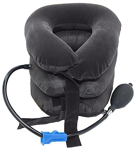 Lumenon Cervical Neck Inflatable Collar Pillow Traction Device Effective and Instant Relief for Chronic Neck and Shoulder Pain Relieving Remedy