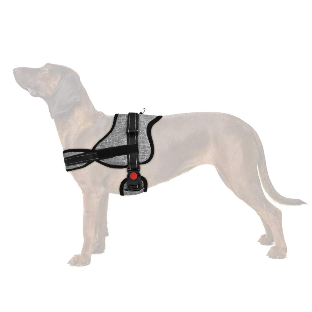 Grey Two D Rings Large Grey Two D Rings Large Slowton No Pull Harness, Dog Vest Harness Front Back Leash Connectors Two D Ring Pet Harness Dog Harness Handle Breathable Padded Reflective Vest Harness Medium Large Dog Training Walking