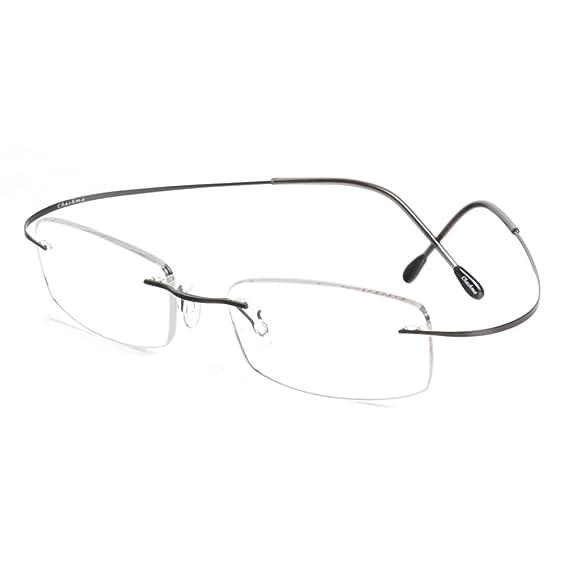 Amazon.com: Titanium Ultra Light Rimless Glasses Eyewear Frames for ...
