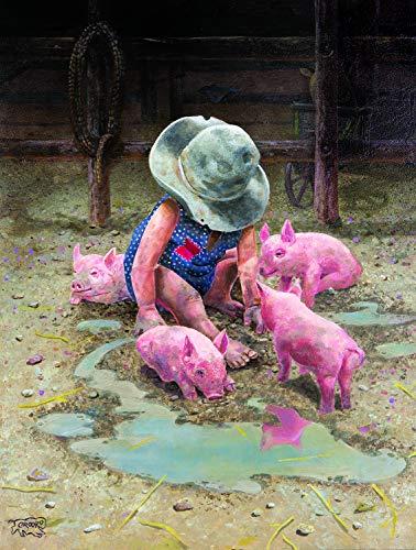 Sunsout 2019 Mud Babies 500 Piece Farm Animals Jigsaw -