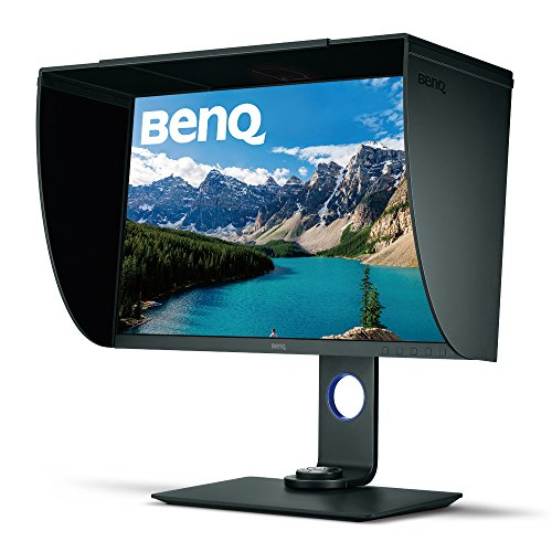 BenQ SW271 27 Inch 4K HDR Professional IPS Monitor |10-Bit with 14-Bit 3D LUT Hardware Calibration| Aqcolor for Accurate Reproduction | Detachable Shading Hood, Black