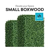 UltraHedge Small Boxwood 20 x 20 Inches Two-Toned Artificial Hedge Panels | Topiary Decorative Wall Greenery Fence Covering | Indoor Outdoor | Small Leaf Size 0.5'' x 0.37'' | 12 Pack