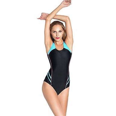 COCO clothing Las Mujeres Espalda Nadador Deportivos Monokini Una ...