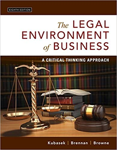 The legal environment of business a critical thinking approach 8th the legal environment of business a critical thinking approach 8th edition 8th edition fandeluxe Image collections