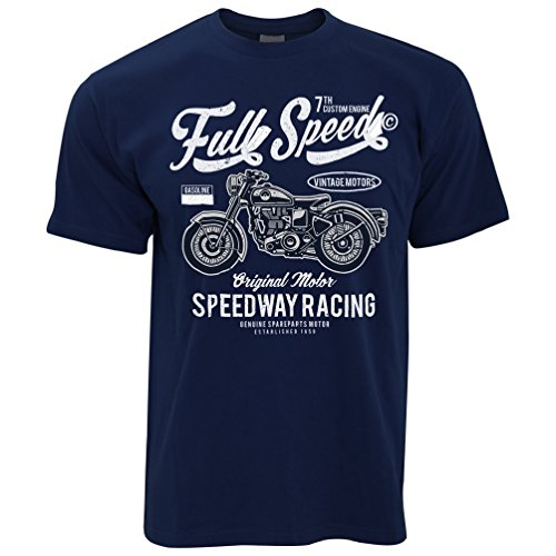 Ted Deterioramento Design Moto Tim Blue And Biker Speed shirt T Full speedway Uomo Navy Da Corsa Uw5pw7xOq
