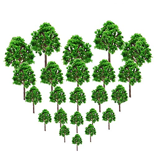 23Pcs Model Trees/Scenery Model Plastic Artificial Layout Rainforest Diorama, Building Model Trees, Fake Trees for Projects Model Train Railways Architecture Landscape