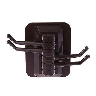Brilcon - Gancho de cocina giratorio con ventosa para pared