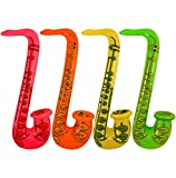 4 x INFLATABLE SAXOPHONE Blow up Party Fancy Dress TOY by The Toy Jar