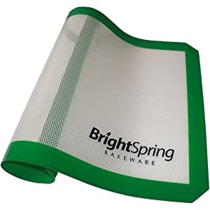 2 Day Sale - BrightSpring Silicone Baking Mat - Non-Stick Cookie Sheet Liner Fits Half-Size Pan - eBook - Easy-Clean Bakeware