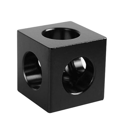 ExcLent 20 * 20 * 20Mm Aluminum Cube 3-Way tee Frame Bracket ...