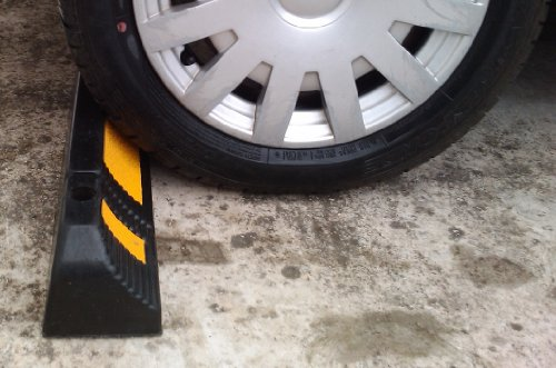 Parking Stopper for Garage Floor, Blocks Car Wheels as Parking Aid and Stops the Tires, acting as Rubber Parking Curbs that Protect Vehicle Bumpers and Garage Walls, 23.6''x4.7''x3.9'' (Pack of 2) by SNS SAFETY LTD (Image #4)