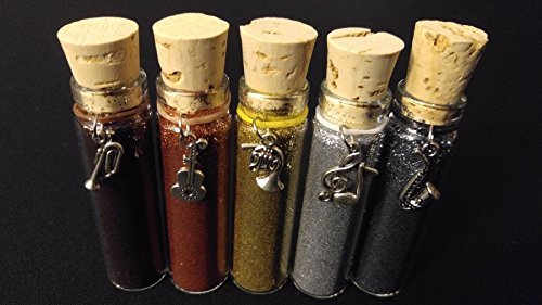 5pc METAL FOILS Henna Tattoo Quality Fine Cosmetic Body Glitter Cork Bottle Set for sale