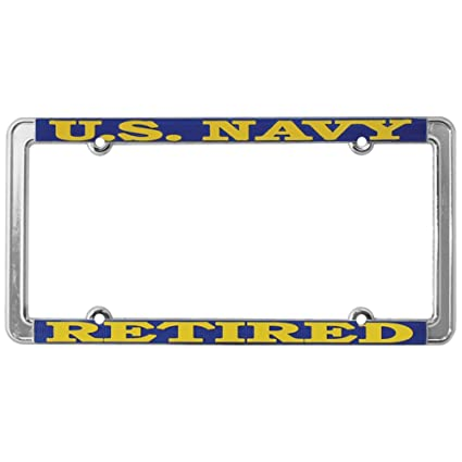Amazon.com: TAG FRAMES (MILITARY) US Navy Retired License Plate ...