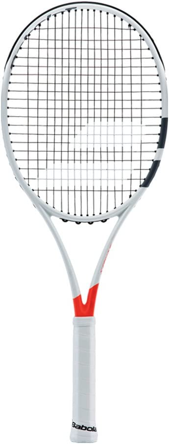 Babolat Pure Strike 26 Juniorグレー/オレンジ/ホワイトテニスラケットStrung withカスタムラケット文字列ColorsBest Junior Racket forコントロール) 黒 String 4 1/8\