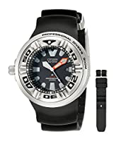 Citizen Men's BJ8050-08E Eco-Drive Professional Diver Black Sport Watch