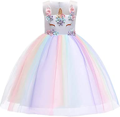 Girls Costume Fancy Dress Up Princess Kids Baby Party Cosplay Tutu Skirt Outfit