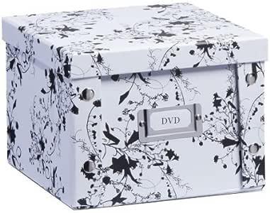 Zeller 17846 Caja de almacenaje de cartón Blanco (White Floral) 21.5 x 20.5 x 15 cm: Amazon.es: Hogar