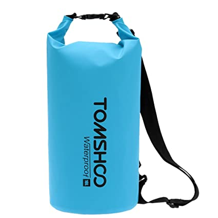 1c1ccbdb23e9 TOMSHOO 10L 20L Waterproof Dry Bag Roll Top Dry Sack Gear Storage Bag with  Adjustable Shoulder Straps for Kayaking Rafting Boating Beach Canoeing  Camping ...