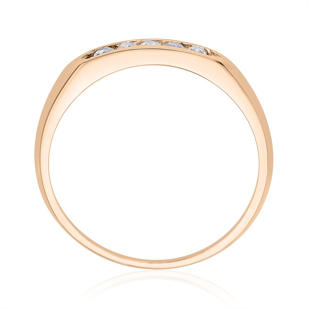 Size-5.25 1//8 cttw, G-H,I2-I3 Diamond Wedding Band in 10K Pink Gold