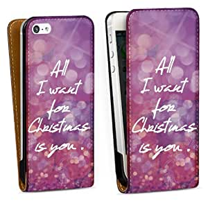 Diseño para Apple iPhone 5 DesignTasche Downflip black - All I want for Christmas is you