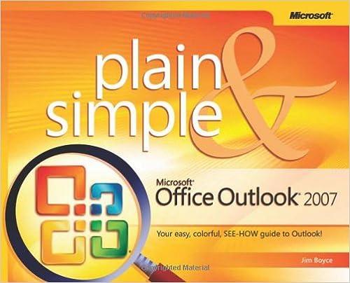 Microsoft Office Outlook 2007 Plain Simple Jim Boyce
