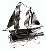 Cheap Sailboat Shaped Wine Bottle Holder by Clever Creations   Premium Metal Design Easily Fits Any Standard Bottle   Decorative Design   Great Gift for Your Favorite Wine   Wide Stable Base