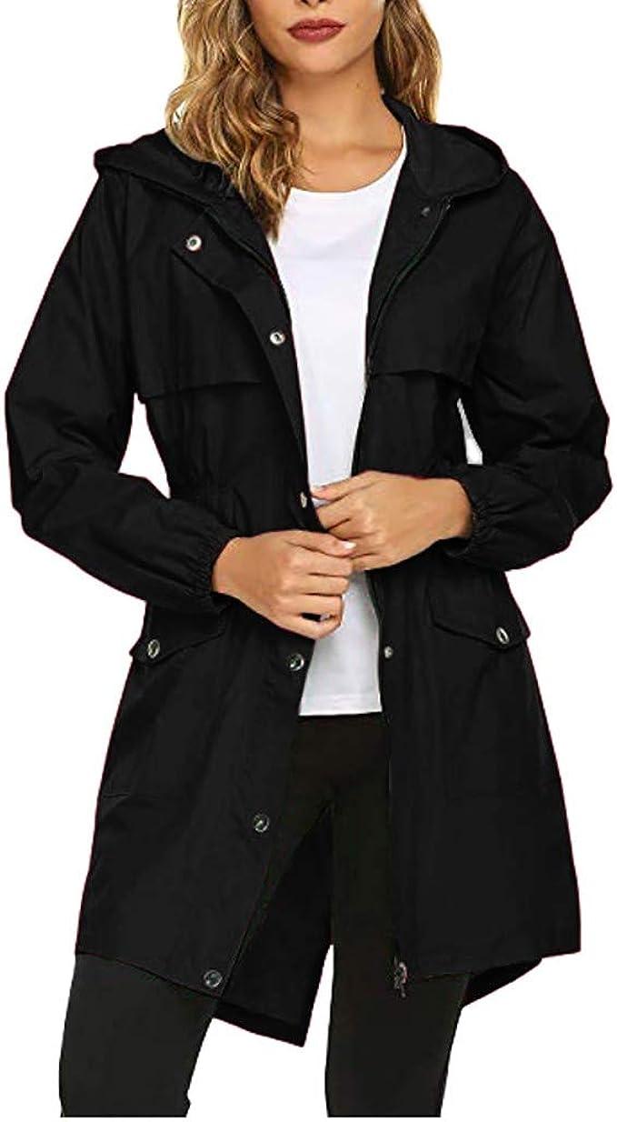 Plus Size Women Hood Wind Jacket Outdoor Waterproof Maxi Rain Coat Windbreaker