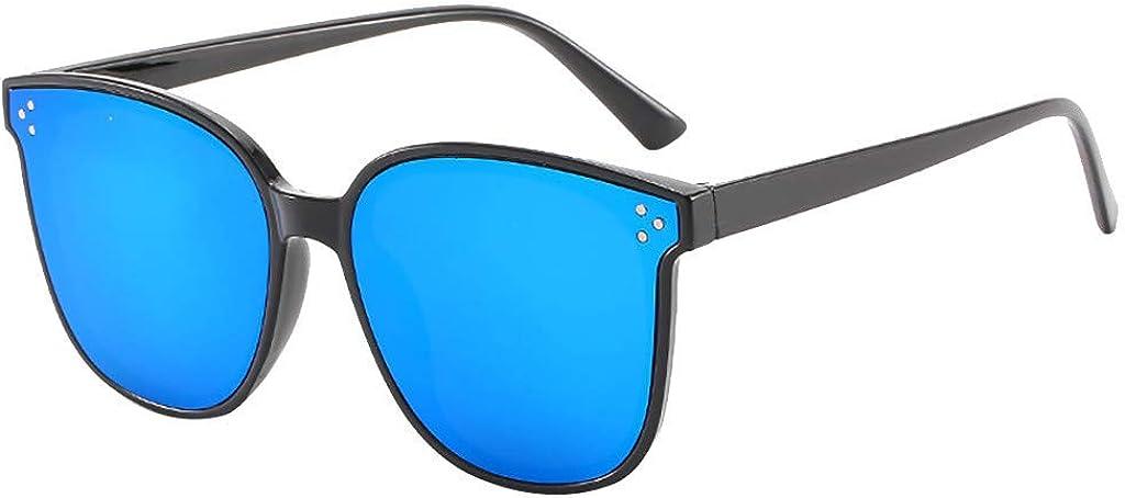 RISTHY Gafas de Sol Hombres y Mujeres-Super Ligero y Extragrande Marco Cuadrado Lente Transparente Protección UV400 Clásico Moda Lujo para Conducción