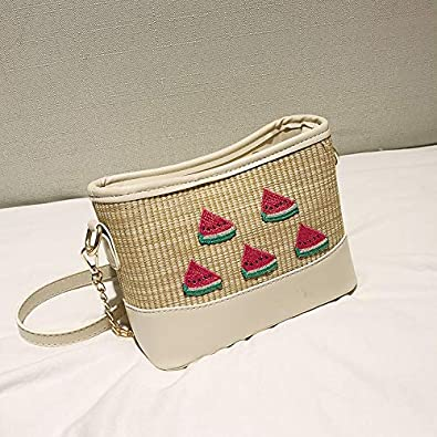 Amazon.com: New Summer Trendy Lady Messager Bags Woven Straw ...