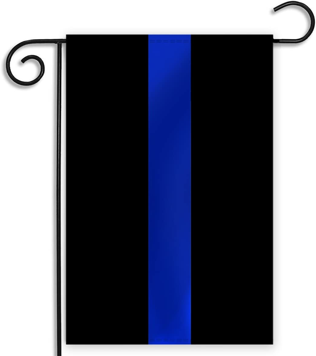Amazon Com Pointview Flags Thin Blue Line Garden Flag 12 5 X 18 Inches Garden Outdoor
