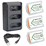 Newmowa NP-BX1 Battery (3-Pack) and 3-Channel USB Charger Kit for Sony NP-BX1 and Sony Cyber-shot DSC-HX50V, DSC-HX80, DSC-HX90, DSC-HX90V, DSC-HX95, DSC-HX99, DSC-HX300, DSC-HX400, DSC-RX1, DSC-RX1R, DSC-RX1R II, DSC-RX100, DSC-RX100 II, DSC-RX100 III, DSC-RX100 IV, DSC-RX100 V, DSC-RX100 VI, DSC-RX100M6, DSC-RX100M II, DSC-WX300, HDR-AS10, HDR-AS15, HDR-AS30V, HDR-AS50R, HDR-AS100V, HDR-AS100VR, HDR-AS300R, HDR-CX240, HDR-CX405, HDR-MV1, HDR-PJ275, FDR-X3000, FDR-X3000R