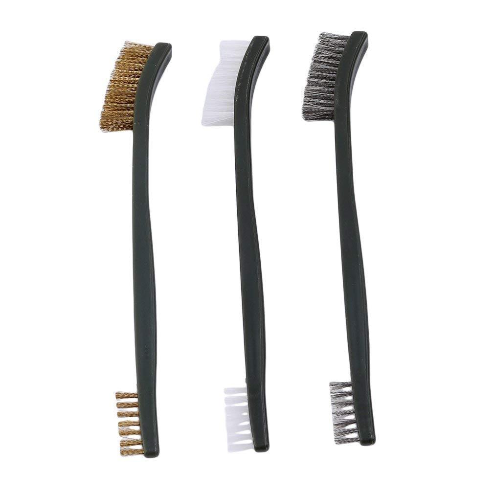 Ogquaton 3pcs outil de nettoyage kit brosse outil double pinceau fil fin /él/égant et populaire