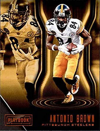 286b0d9e620 2018 Panini Playbook Orange  15 Antonio Brown Pittsburgh Steelers NFL  Football Trading Card