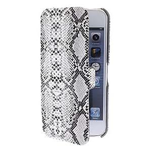 Procesamiento de dos días -Piel de serpiente texturizado caso diseño de la cubierta gris con protección flocado interior de 5/5s (colores opcionales) iphone
