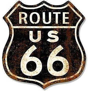 Retro Route 66 White Vinyl Logo Decal Bumper Sticker Car Truck RV Wall Window