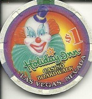 $1 circus circus obsolete las vegas casino chip clown