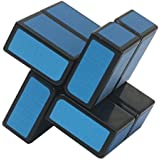 Funs 2x2x2 Mirror Block Windmill Cube Puzzle Black Body Blue Stickered