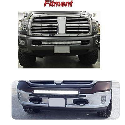For 2003-2020 Dodge Ram 2500 3500 Hidden Bumper Grille Mounting Brackets Fit 22'' 32'' 42'' Straight LED Light Bar: Automotive