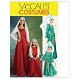 McCall's Patterns M5499 Misses'/Children's/ Girls' Medieval Costumes, Size MISS (SML-MED-LRG-XLG)