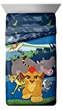 Lion Guard Disney Junior All for One Twin/Full Comforter - Super Soft Kids Reversible Bedding features Kion - Fade Resistant Polyester Microfiber Fill (Official Disney Junior Product)