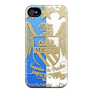 Excellent Hard Cell-phone Cases For Iphone 6plus With Support Your Personal Customized Vivid The Logo Of Manchester City Pattern IanJoeyPatricia