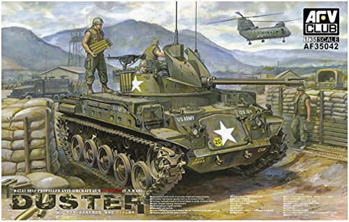 (AFV Club M-42 Duster (Self Propelled Anti-Aircraft Gun) 1:35 Scale Military Model Kit)