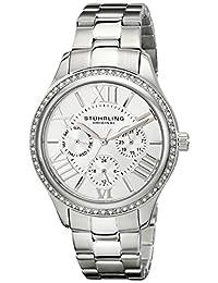 Stuhrling Original Women's 391LS.01 Symphony Regent Majestic Sterling Eccles Quartz Swarovski Crystal Stainless Steel Bracelet Watch