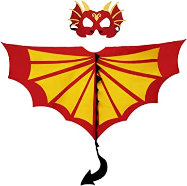 Toddler Kids Dinosaur Wings Costume Cape and Mask for Boys Girls Dragon Dress Up Party Games