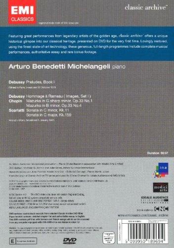 Debussy: Preludes, Book 1; Chopin: Mazurkas, Op. 33 Nos. 1 & 4; Scarlatti: Sonatas Kk. 11 & Kk. 159 [DVD Video] by Warner Classics