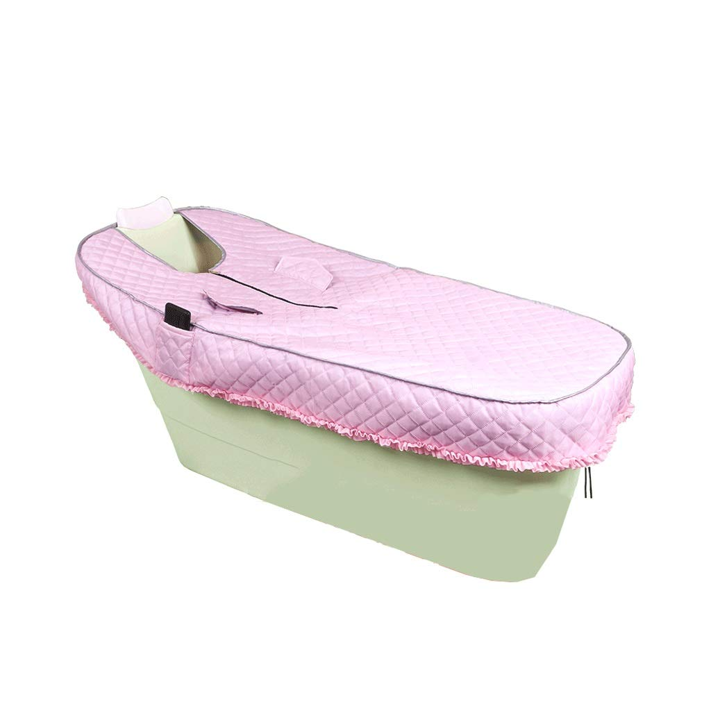 Bath tub Bathtub Adult Bathtub Long Bathtub Adult Bathtub Plastic Thicken Household Bathtub Large Bathtub With Cover 4 Color 2 Size (Color : Green, Size : 1305664cm)